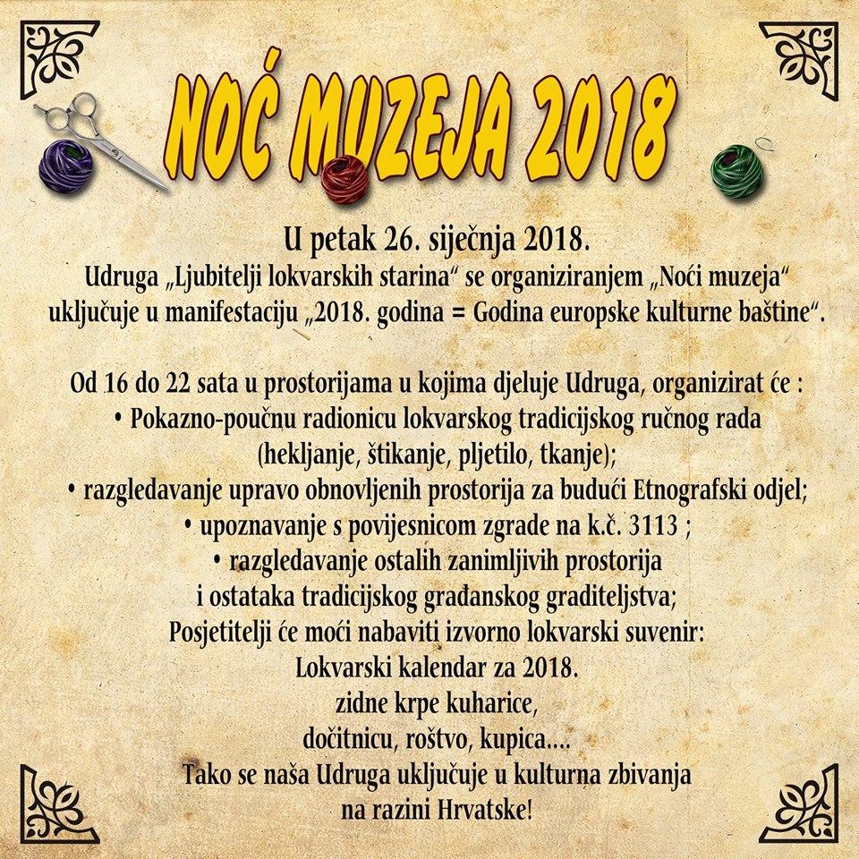 Noć Muzeja 2018 Starine